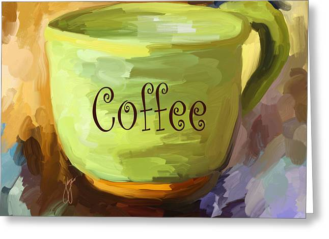 Java Greeting Cards - Coffee Cup Greeting Card by Jai Johnson