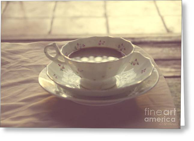 Still Life Photograph Greeting Cards - Coffee Cup Photo Greeting Card by Svetlana Novikova