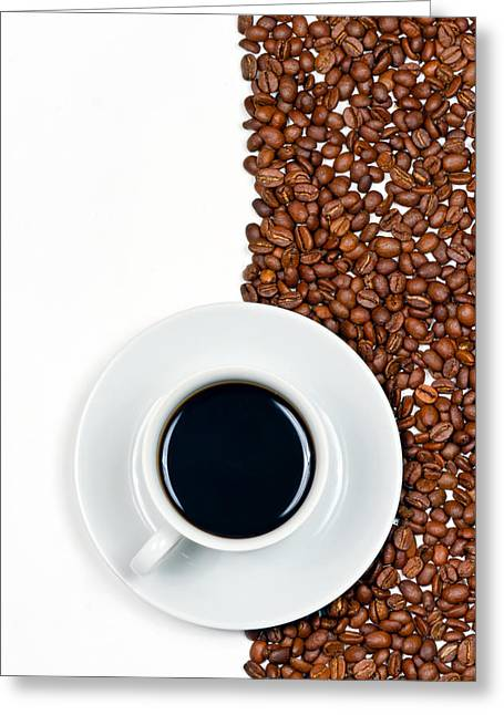 Coffee Drinking Greeting Cards - Coffee Greeting Card by Gert Lavsen