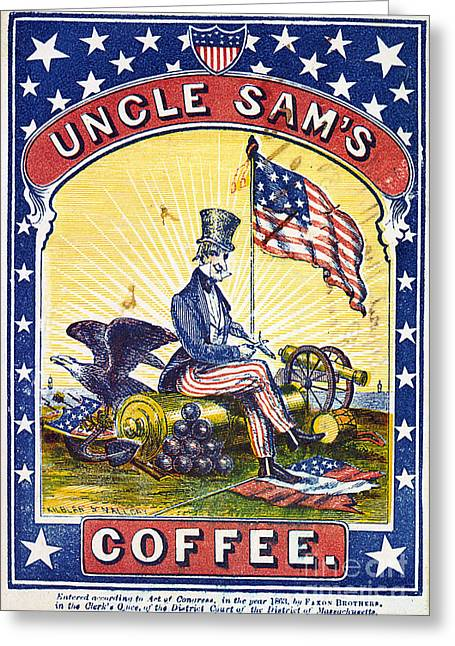 Confederate Flag Photographs Greeting Cards - COFFEE LABEL, c1863 Greeting Card by Granger