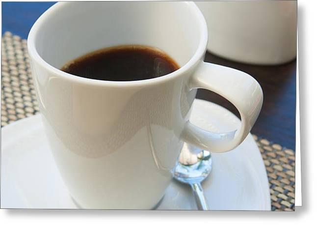 coffee sir Greeting Card by ATIKETTA SANGASAENG
