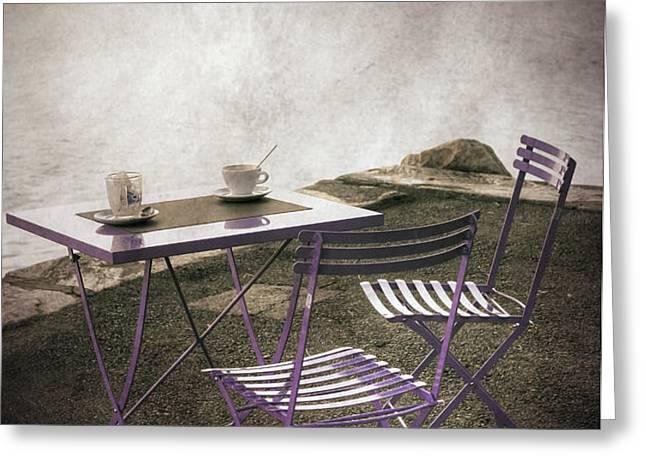 coffee table Greeting Card by Joana Kruse