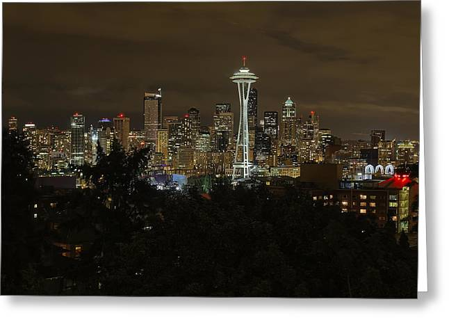 City Lights Greeting Cards - Coffee Town Greeting Card by James Heckt