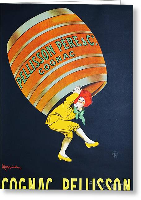 Saloons Paintings Greeting Cards - Cognac  Pellisson Greeting Card by Pg Reproductions