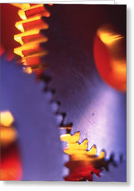 Cog Greeting Cards - Cogs For Use In A Gearing System Greeting Card by Tek Image