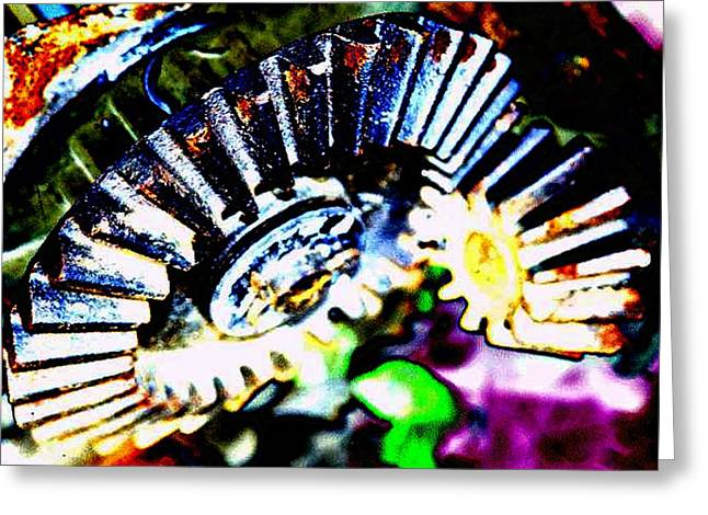 Cog Greeting Cards - Cogs Greeting Card by Tim Allen