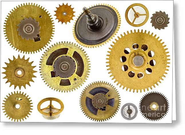 cogwheels - gears Greeting Card by Michal Boubin