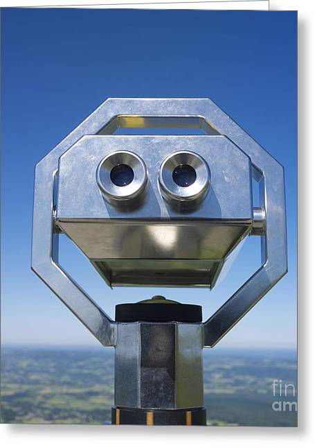 Viewpoint Greeting Cards - Coin-operated binoculars Greeting Card by Bernard Jaubert