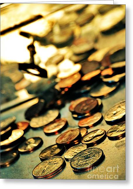 Safekeeping Greeting Cards - Coins Greeting Card by HD Connelly