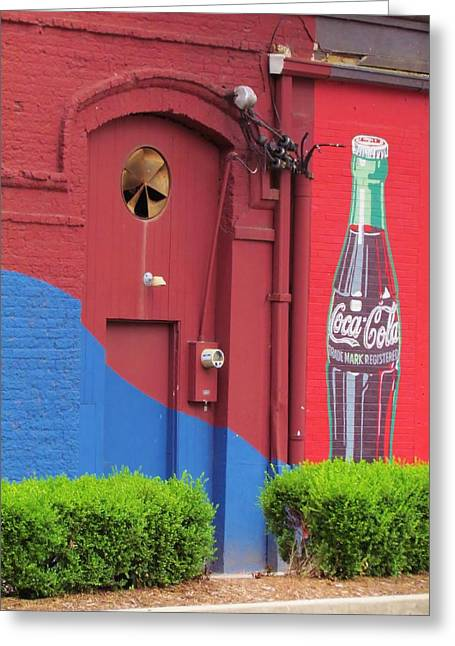 Coca-cola Mural Greeting Cards - Cola Greeting Card by Ginger Wemett