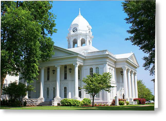 Colbert Greeting Cards - Colbert County Courthouse Greeting Card by Paul Mashburn