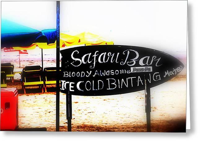 Abstract Digital Photographs Greeting Cards - Cold Bintang at the Safari Bar in Bali Greeting Card by Funkpix Photo Hunter