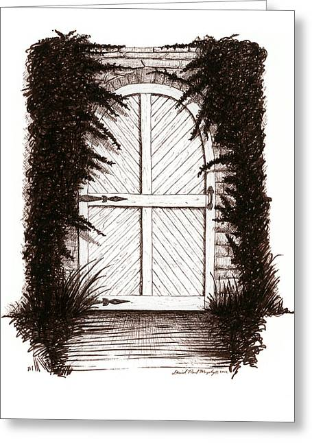 Journal Drawings Greeting Cards - Cold Cellar Greeting Card by Daniel Paul Murphy