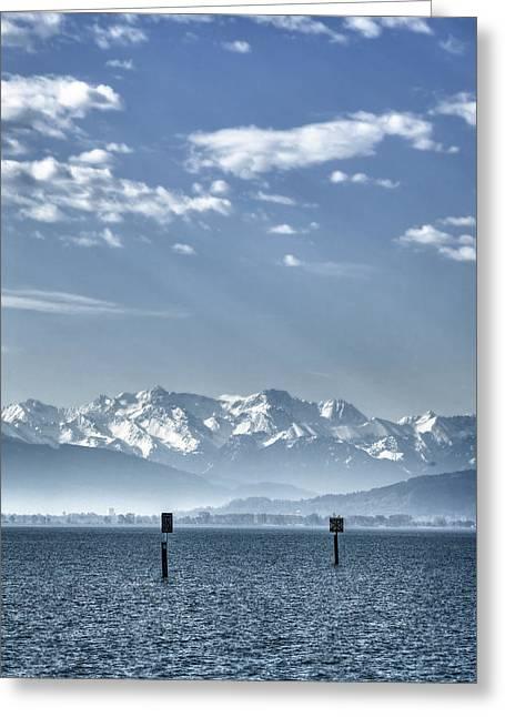 Desert Lake Greeting Cards - Cold Lake Greeting Card by Joana Kruse