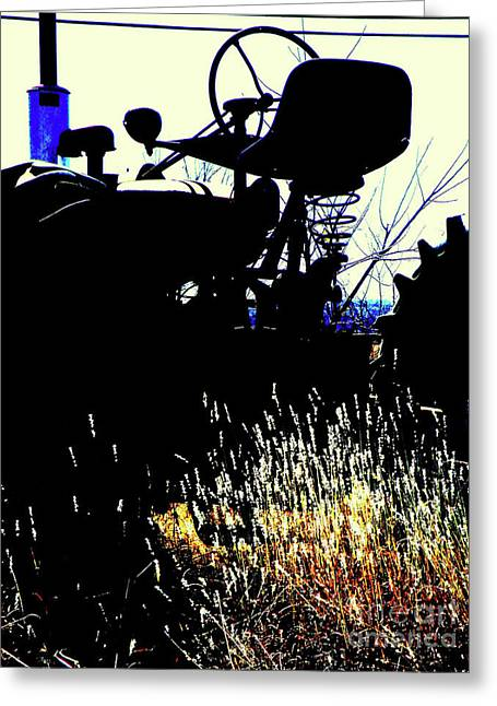 Cold Morning Sun Greeting Cards - Cold Morning Tractor  Greeting Card by Joe Jake Pratt