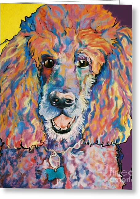 Pet Portraits Pastels Greeting Cards - Cole Greeting Card by Pat Saunders-White