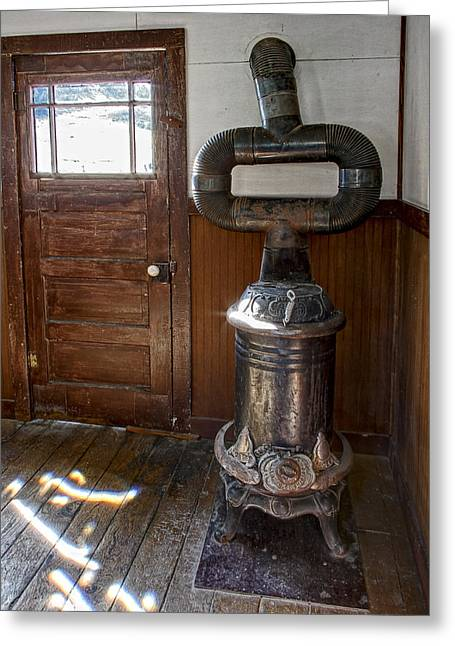 Old Stove Greeting Cards - Coles Hot Blast Stove - Molson Ghost Town Greeting Card by Daniel Hagerman