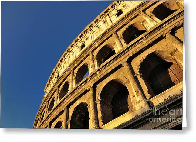 Coliseum. Rome Greeting Card by BERNARD JAUBERT