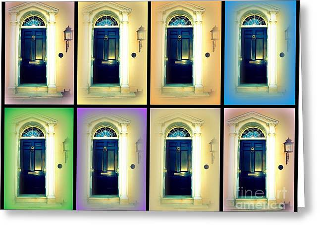 Charleston Greeting Cards - Collage of a Charleston Door Greeting Card by Susanne Van Hulst