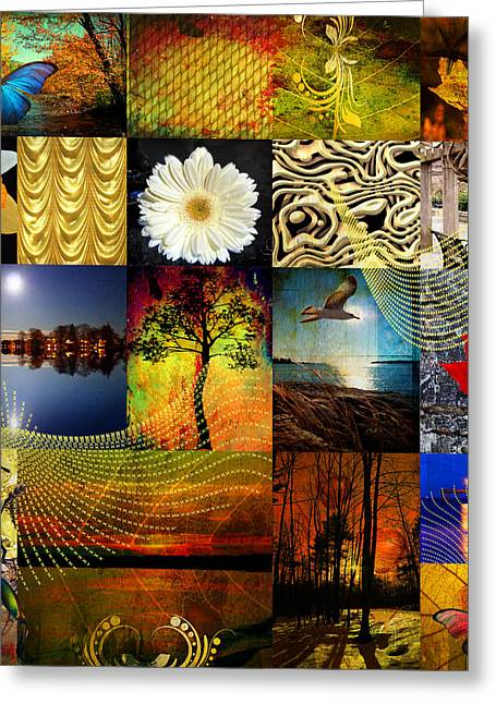 Thinking Of You Greeting Cards - Collage of colors Greeting Card by Mark Ashkenazi