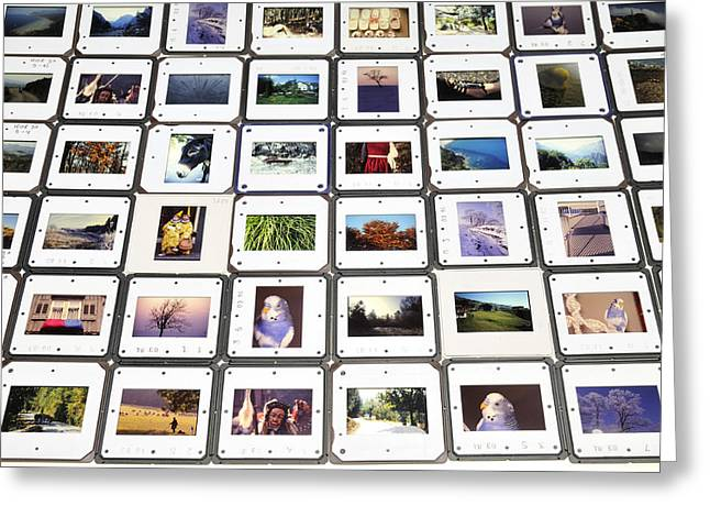 Analog Greeting Cards - Collection of color slides Greeting Card by Matthias Hauser
