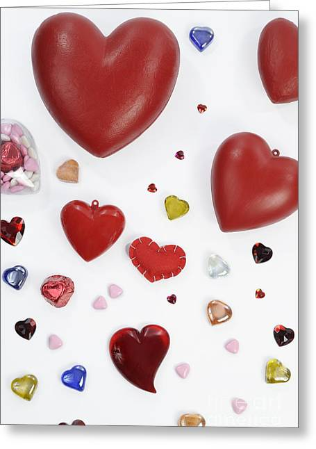 Paperweight Greeting Cards - Collection of heart shapes Greeting Card by Sami Sarkis