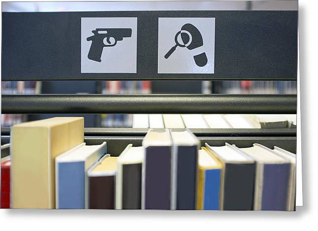 Hardcover Greeting Cards - Collection Of Thrillers In A Public Greeting Card by Corepics