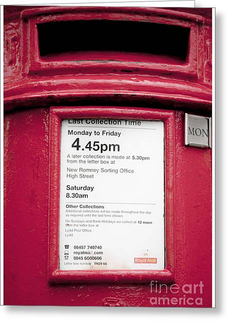 Postal Service Greeting Cards - Collection Time 4.45 PM Greeting Card by Heiko Koehrer-Wagner