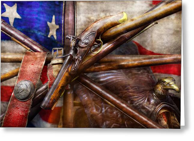 Customizable Greeting Cards - Collector - Guns - How the war was won  Greeting Card by Mike Savad