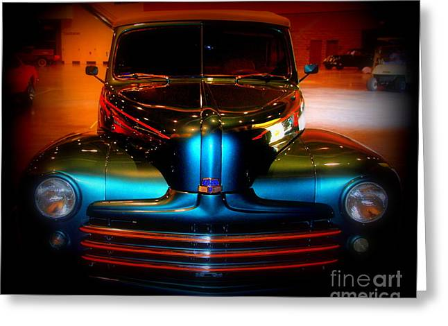 Auction Greeting Cards - Collector Car Greeting Card by Susanne Van Hulst