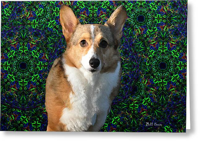 Tye Greeting Cards - Collie Greeting Card by Bill Cannon