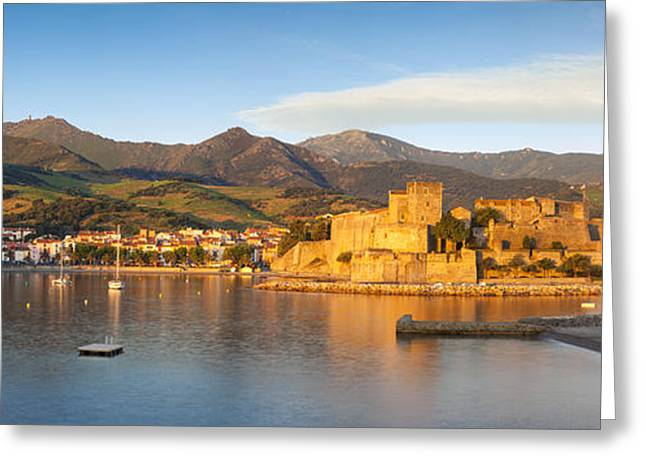 Lions Greeting Cards - Collioure at dawn Greeting Card by Brian Jannsen
