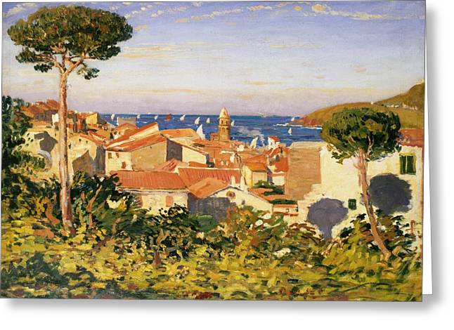 Meds Greeting Cards - Collioure Greeting Card by James Dickson Innes