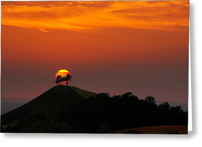 Kris Dutson Greeting Cards - Colmers Hill Sunset Greeting Card by Kris Dutson
