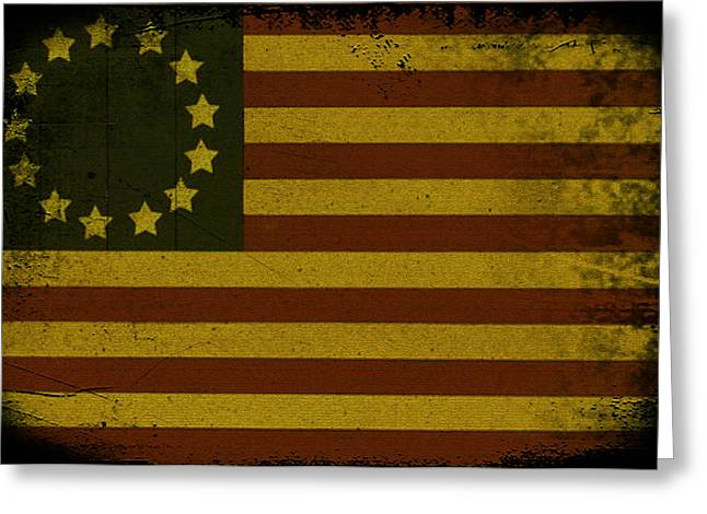 Bill Cannon Greeting Cards - Colonial Flag Greeting Card by Bill Cannon