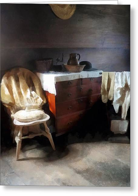 Colonial Nightclothes Greeting Card by Susan Savad