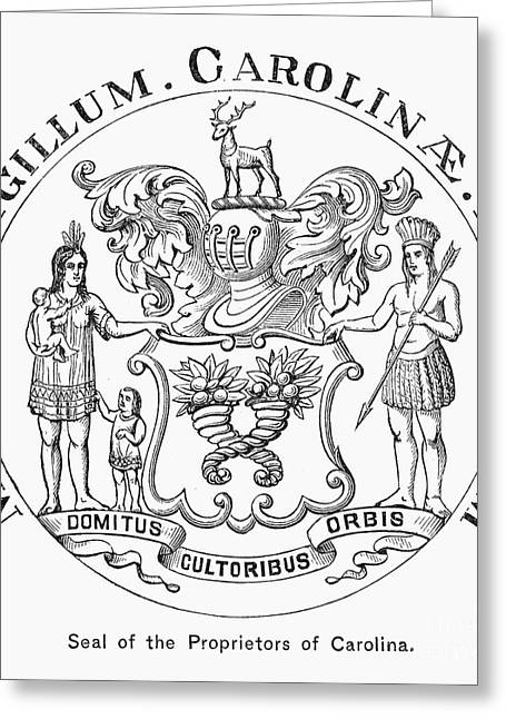Proprietor Greeting Cards - Colonial Seal: Carolinas Greeting Card by Granger