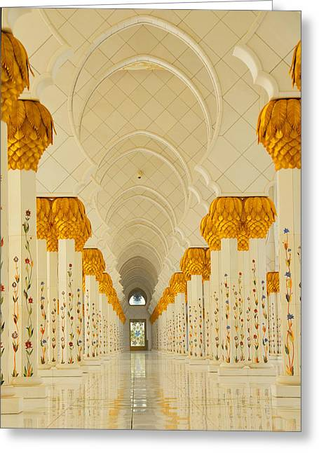 Farah Faizal Greeting Cards - Colonnade Greeting Card by Farah Faizal