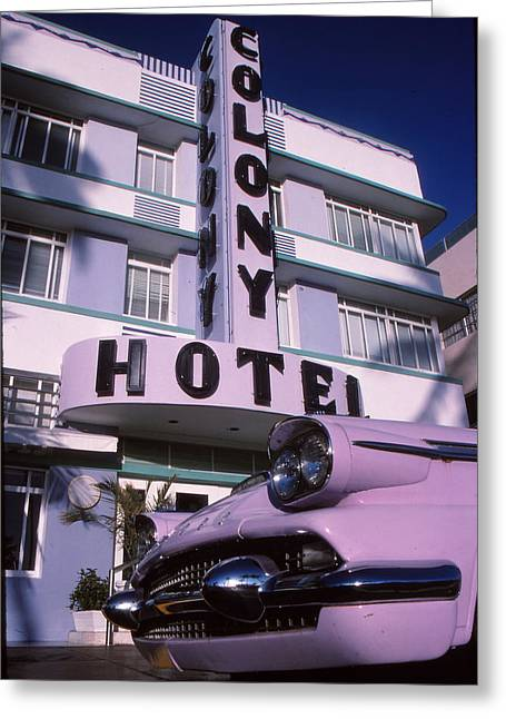 Ventage Greeting Cards - Colony Hotel Greeting Card by Bob Whitt