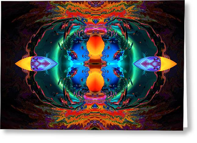 Algorithmic Abstract Digital Art Greeting Cards - Color circus Greeting Card by Claude McCoy