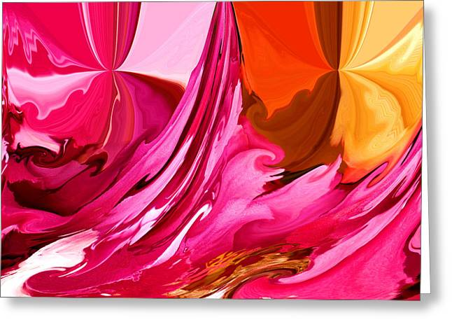 Focal Color Art Greeting Cards - Color Fusion Greeting Card by Karen M Scovill