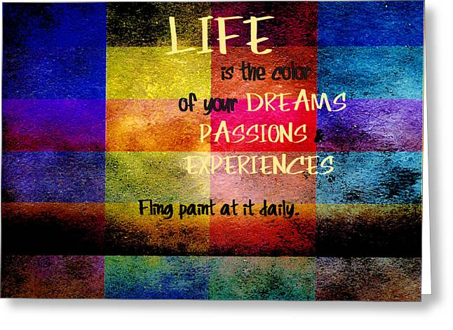 Life Experience Greeting Cards - Color of Life Greeting Card by Bonnie Bruno