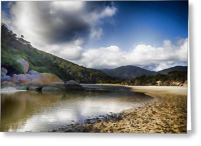 Tidal River Greeting Cards - Color of the Rocks V3 Greeting Card by Douglas Barnard