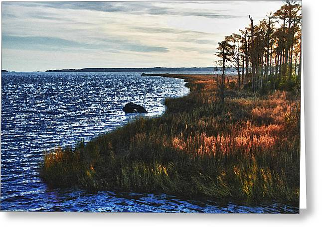 Crimson Tide Greeting Cards - Color of Weeks Bay Greeting Card by Michael Thomas
