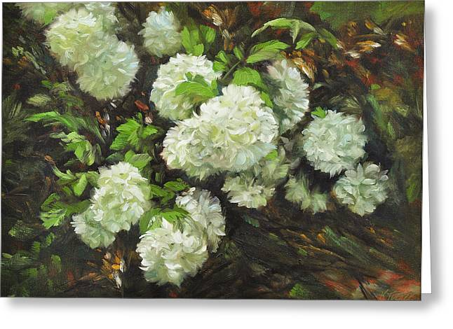 Color Of White Greeting Card by Katherine Tucker