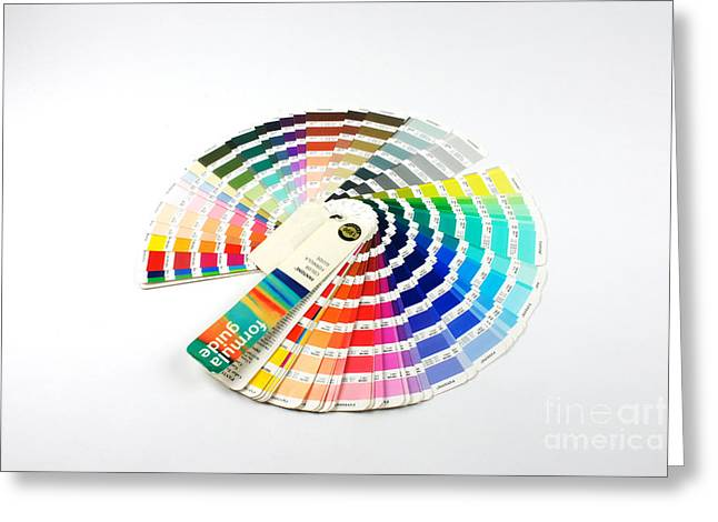 Color Wheel Greeting Cards - Color Palette Wheel Greeting Card by Photo Researchers, Inc.