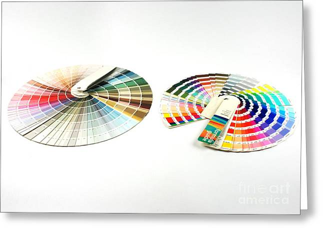 Color Wheel Greeting Cards - Color Palette Wheels Greeting Card by Photo Researchers, Inc.