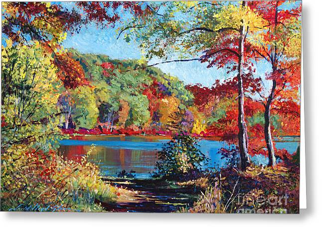 New York State Parks Greeting Cards - Color Rich Harriman Park Greeting Card by David Lloyd Glover