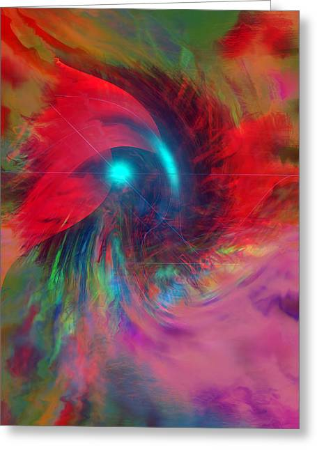 Digital Expressions Greeting Cards - Color Storm Greeting Card by Linda Sannuti