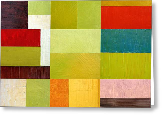 Image Repeat Greeting Cards - Color Study Abstract 9.0 Greeting Card by Michelle Calkins